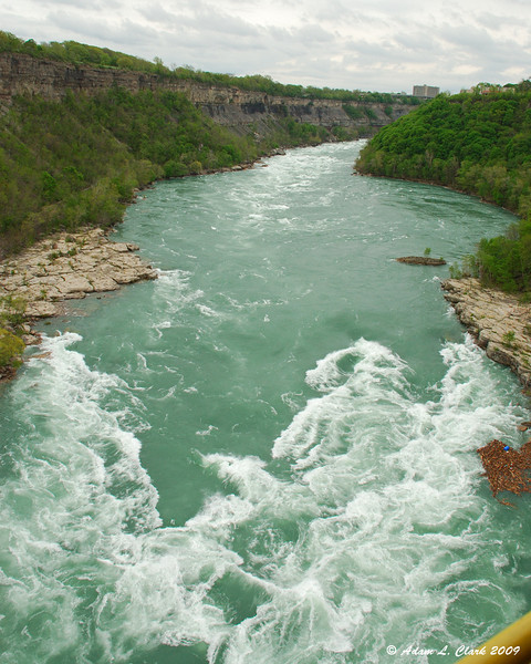 The river coming into the whirlpool