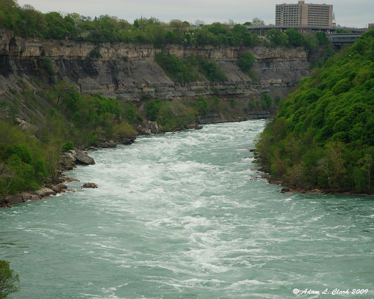 The rapids upstream