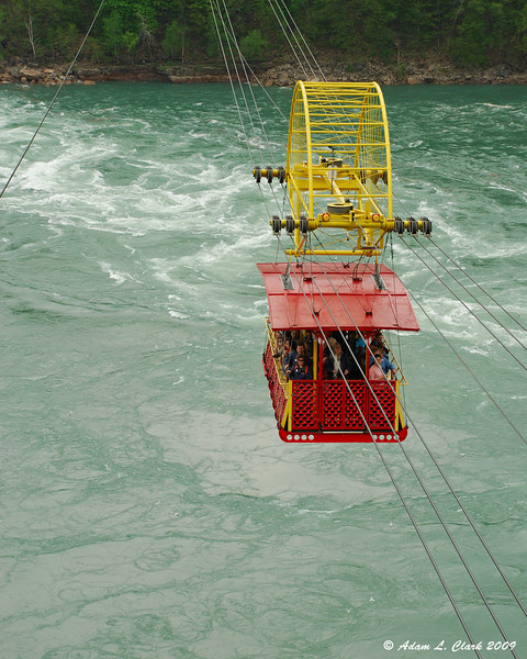 The aerocar making its way to the other side of the whirlpool