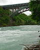 Looking up river from the start of the walkway.  Whirpool Rapids bridge and Michigan Central Railway Bridge crossing the gorge