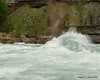 Breaking waves on the river