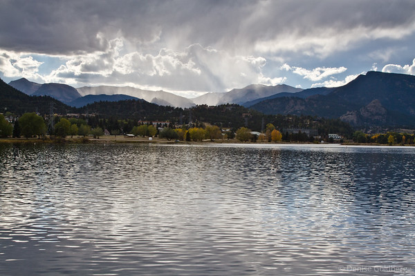 reflecting light on Lake Estes