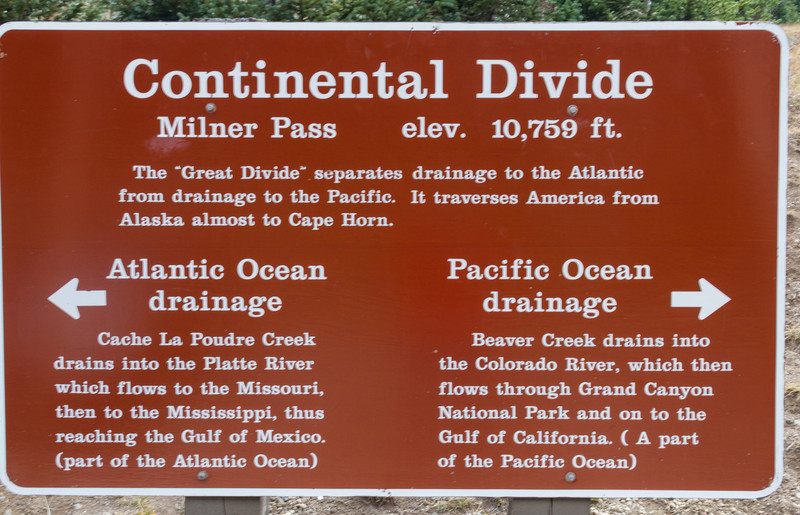 Didn't know what the Continental divide was...now you do.