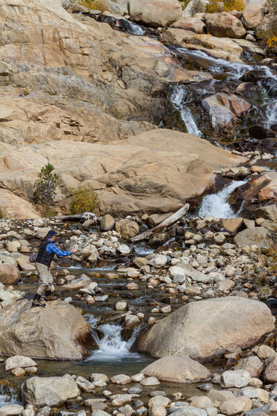 Rocky Mountain National Park<br /> Alluvial fan...this fisherman was part of a promotional that was being shot.