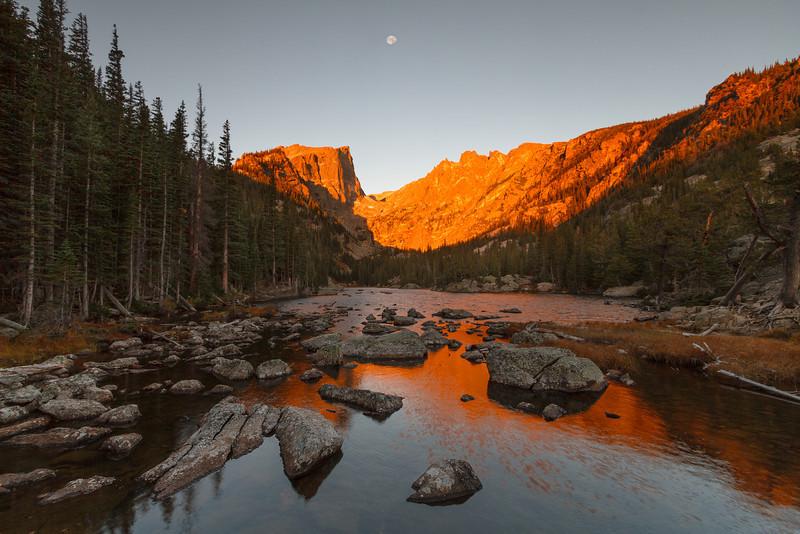 Sunrise at Dream Lake