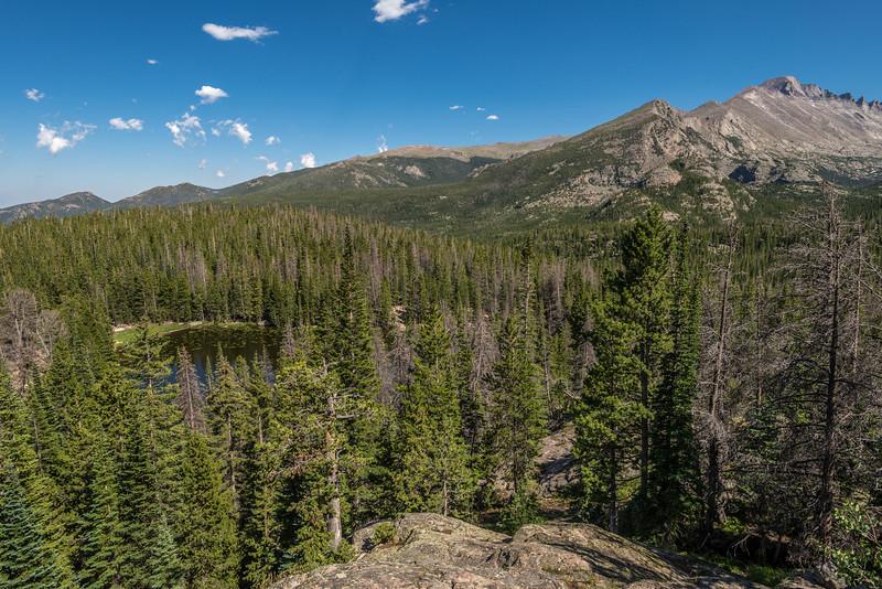 Nymph Lake and Longs Peak