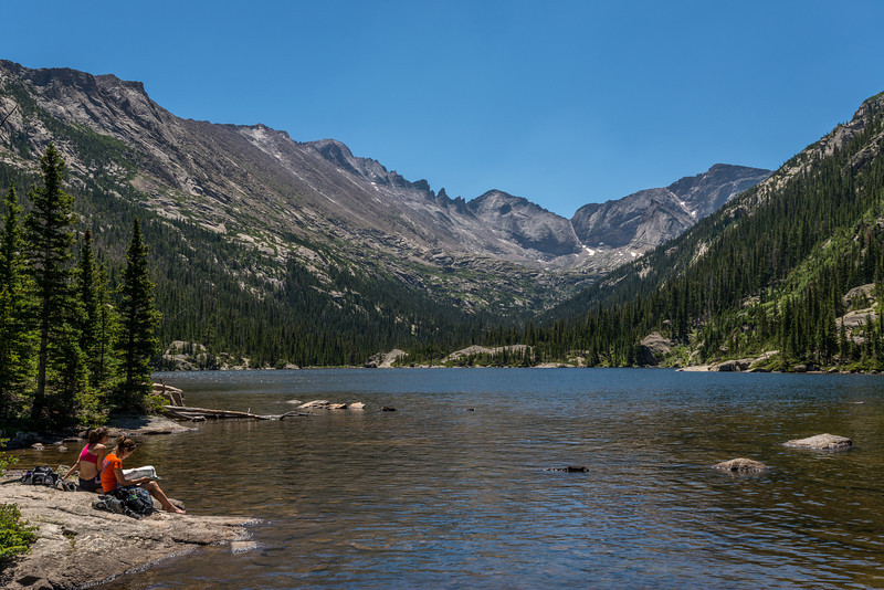 Mills Lake. Longs Peak above