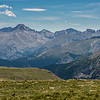 Longs Peak (4346m), the highest point in Rocky Mountain National Park, from the Toll Memorial Trail
