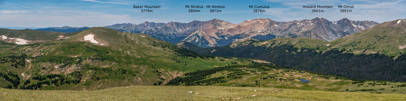 Panorama from the Gore Range Overlook