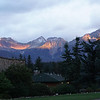 Last morning in the Canadian Rockies - rain washed away much of the smoke. Jasper National Park. Alberta.