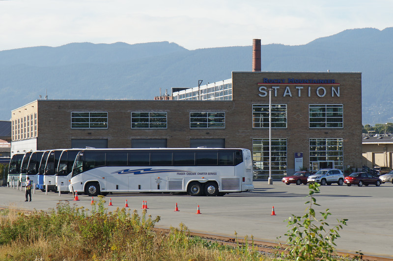 Rocky Mountaineer Vancouver Station. A former rail car maintenance facility.