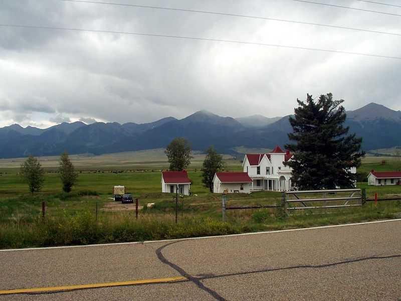 Near Westcliffe, Colorado there's this little state-owned piece of history with the Sangre de Cristo Range in the background.
