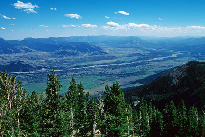 Snake River Valley Near Jackson Hole