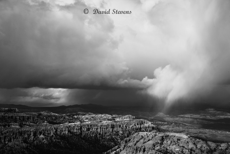 Storm over Canyonbw