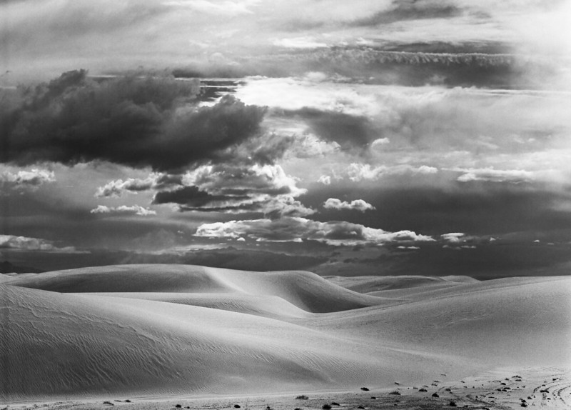 Dunes and storm clouds
