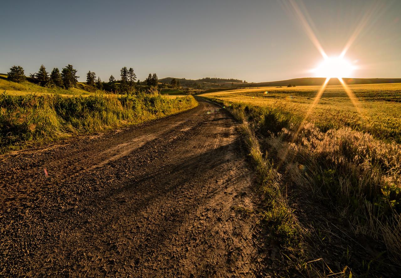 Sunburst Over The Prairie