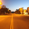 Three Forks Main Street at dawn.