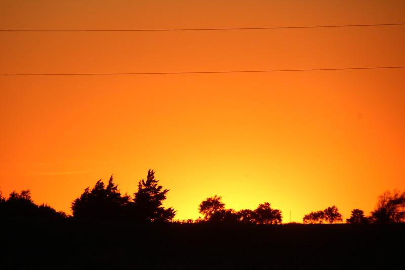 Fairfax Nebraska sunset.