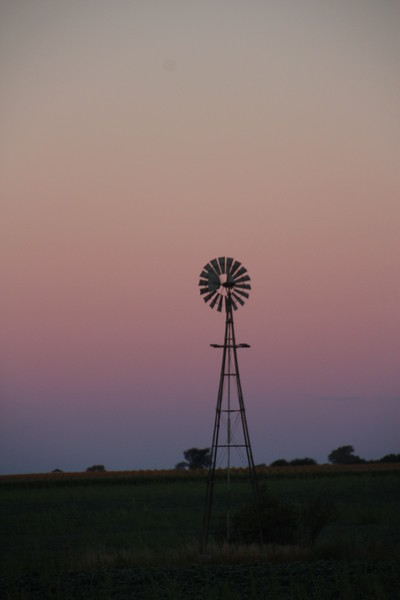 Evening Windmill in Fairfax, SD