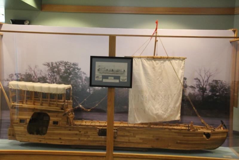 Some of his 9-ft scale models are on display in the Lewis & Clark Center in Nebraska City, NE