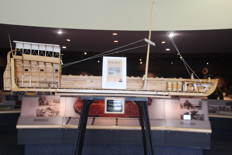 One of Butch's cutaway models sits in a prominent position in the Western Trails Museum.