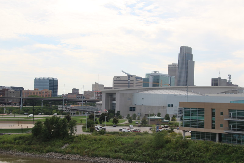 Downtown Omaha, from the bridge.