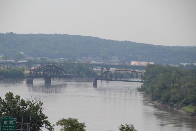 Bridge #55.  RR bridge at St. Joseph (with #56 in background).