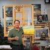 Gary - master artist!  In his studio.