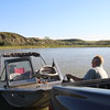 Jeff and Jeff get the boat launched.