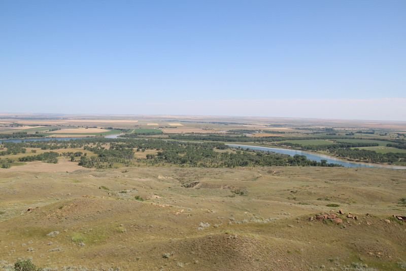 Confluence of Missouri and Milk Rivers.  Near Ft. Peck, MT.