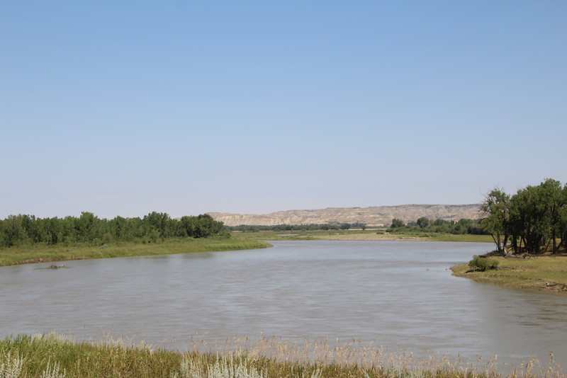 The Missouri, upstream from the Snowden Bridge, south of Williston, ND