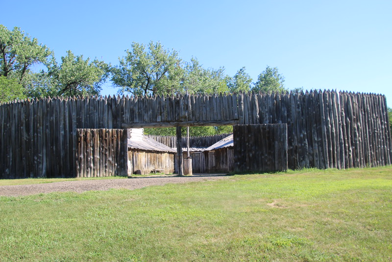 The fort was triangular in shape.