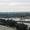 The Big Sioux (nearer) joins the Missouri at Sioux City along I-29.