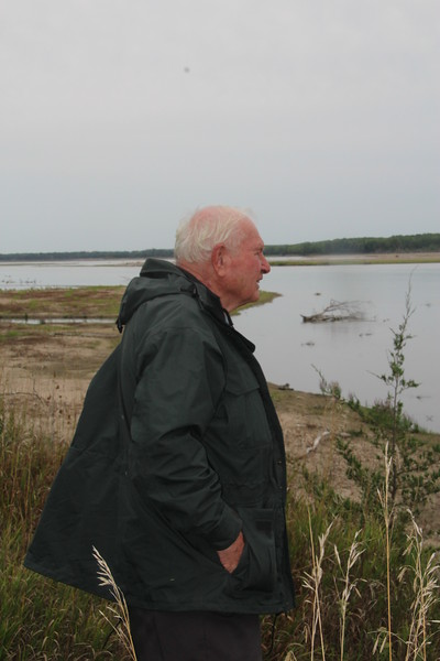 Jim Peterson, looking out over his beloved River.