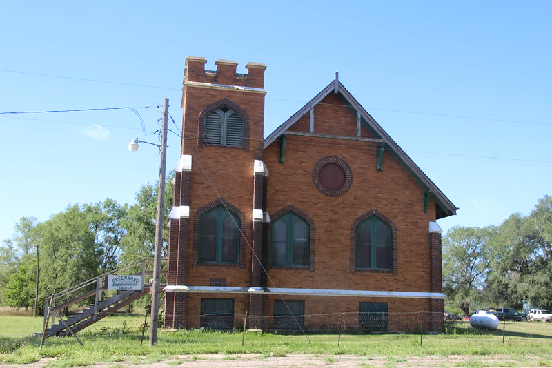 Abandoned Presbyterian Church near Greenwood, SD.