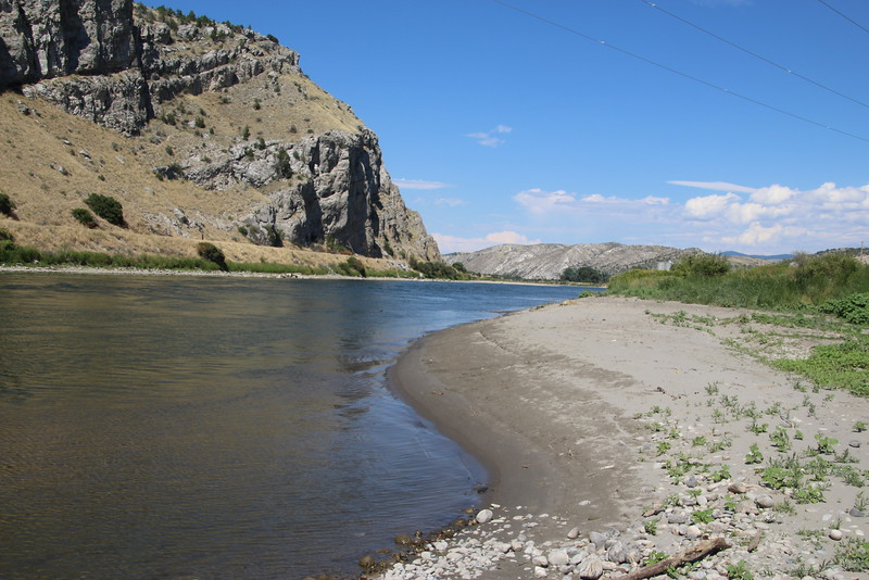 Now fortified with three tributaries, the (official) Missouri River begins its journey downstream.