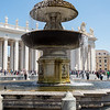 Fountain in St Peter's Square, Vatican City, Rome