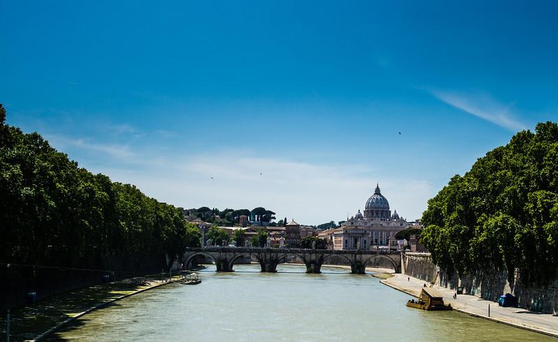 River Tiber looking towards St Peter's