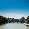 River Tiber looking towards St Peter's