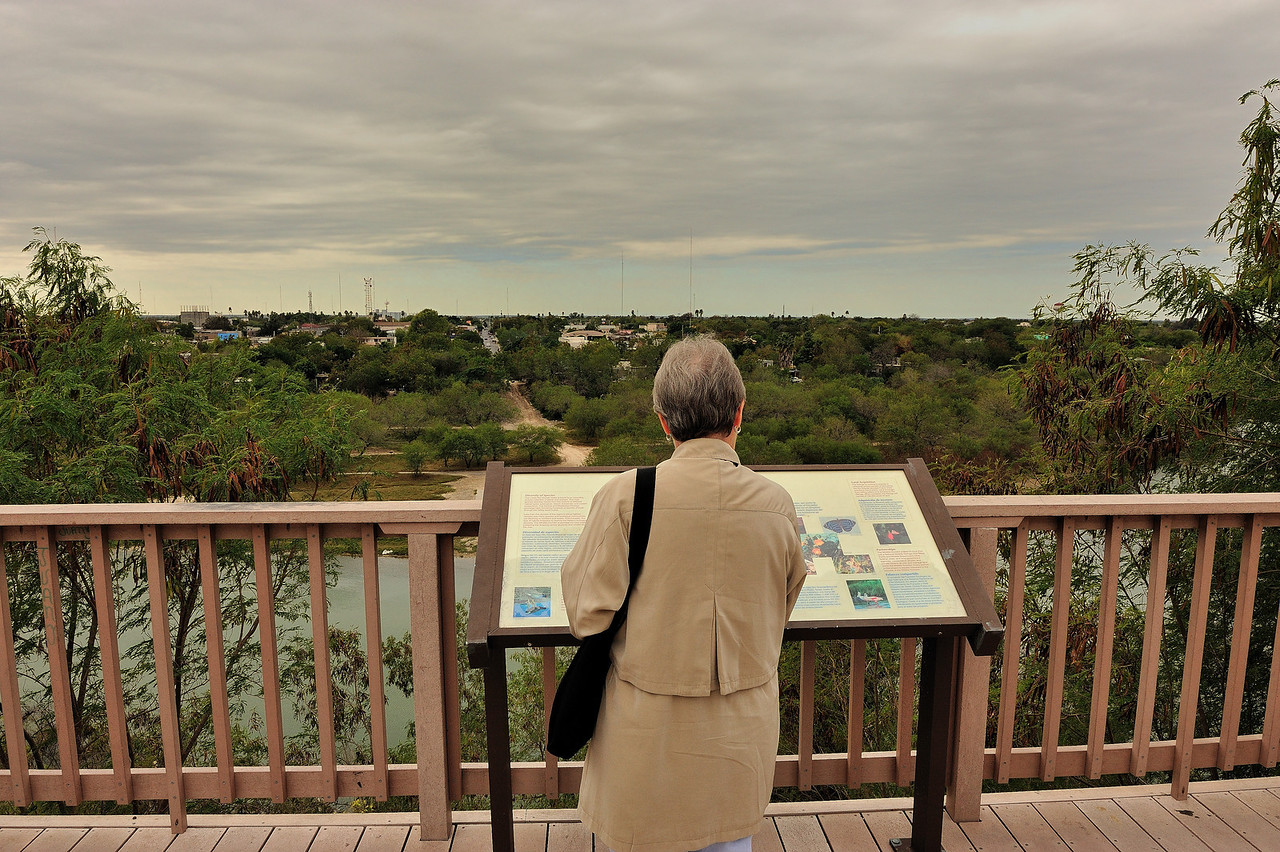 Looking out over the Rio Grande from Roma TX