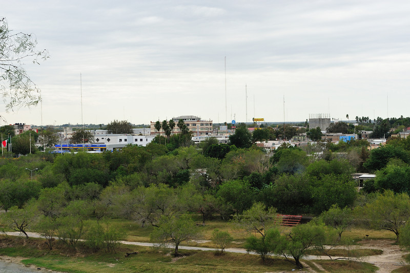 Looking across the Rio Grande to the Mexican town of Ciudad Aleman, which is about twice the size of Roma, TX.