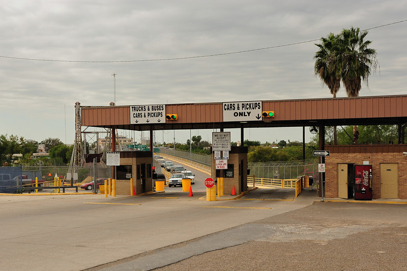 Gateway to Mexico. More cars returning to the US than going into Mexico on this day.