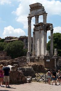 Forum Romanum, Vesta and Castor & Pollux temples
