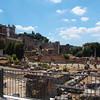 Parts of the Roman Forum from modern day street level.