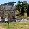 Arch of Constantine as seen from the Colosseum.