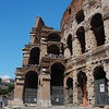 Colosseum section view.  The marble curb delineates the original outer wall of the arena.