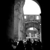 Colosseum looking at interior through archway.