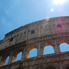 Colosseum with sun flare.