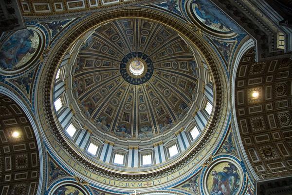 Kuppelen i Peterskyrkja..