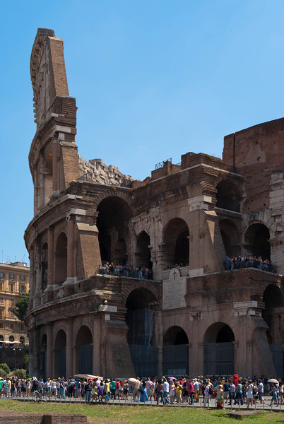 Colosseo, a view from in front of temple of Venus and Roma